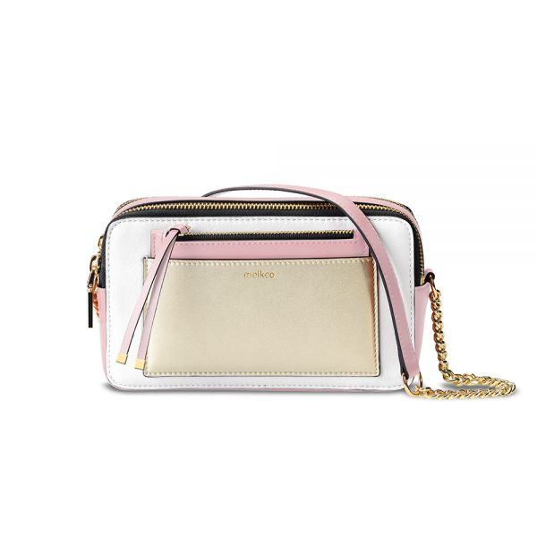 Melkco Lollipop Series Mini Turn Lock Crossbody Bag (Pink)