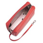 Melkco Storage Bag In Chevre Leather M Size(Red/Black)