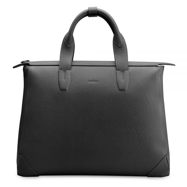 Melkco Bruni Bag In Genuine leather (French LC BlacK)