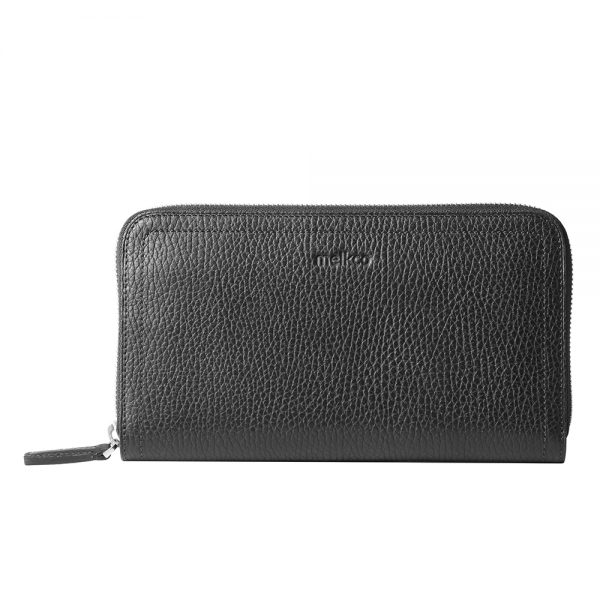 Melkco Bruni Wallet In Genuine Leather (French LC Black)