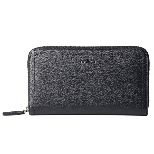 Melkco Bruni Wallet In Genuine Leather (Sapphire Blue)