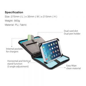 "Melkco Extreme Traveller Case for iPad Air 10"" (Big)-Black"