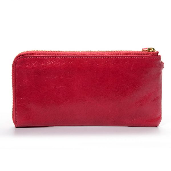 Melkco Fashion Leather Purse Sarina Series Style - Oilver Pink