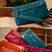 Melkco Fashion Leather Purse Sarina Series Style – Oliver Lake Blue