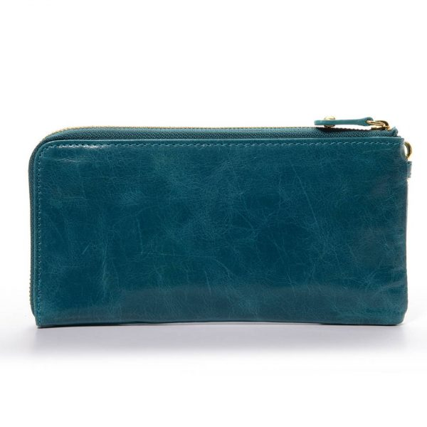 Melkco Fashion Leather Purse Sarina Series Style - Oliver Lake Blue