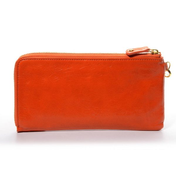 Melkco Fashion Leather Purse Sarina Series Style - Oliver Orange