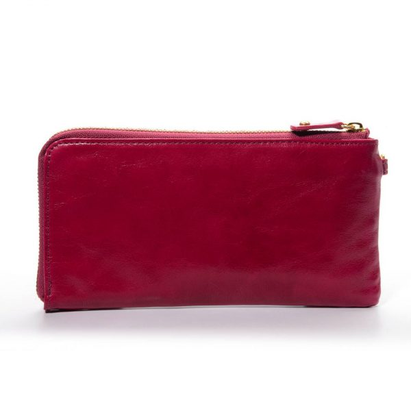 Melkco Fashion Leather Purse Sarina Series Style - Oliver Purple