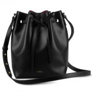 Melkco Fashion Purden Bucket Bag in Cross pattern Genuine leather